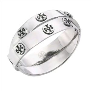 STUNNING TORY BURCH DOUBLE BAND LOGO BRACELET